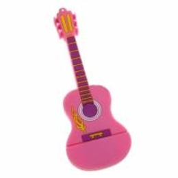 Оригинальная подарочная флешка Present GTR10 04GB Pink (флешка-гитара розовая)