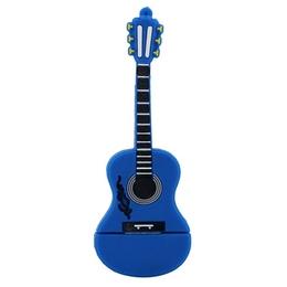 Оригинальная подарочная флешка Present GTR10 64GB Blue (флешка-гитара синяя, без блистера)