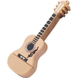 Оригинальная подарочная флешка Present GTR10 64GB Brown (флешка-гитара коричневая)