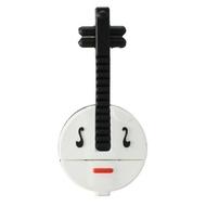 Оригинальная подарочная флешка Present GTR15 08GB Black White (флешка-банджо)