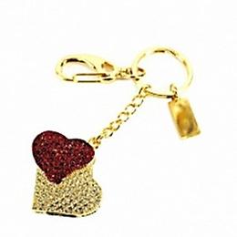 Оригинальная подарочная флешка Present HRT10 32GB (сердце красное на фоне сердца белого)