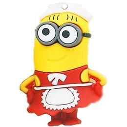 Оригинальная подарочная флешка Present MEN23 08GB Red (миньон девочка, без блистера)