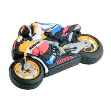 Оригинальная подарочная флешка Present MEN25 64GB (мотоциклист на спортивном мотоцикле)