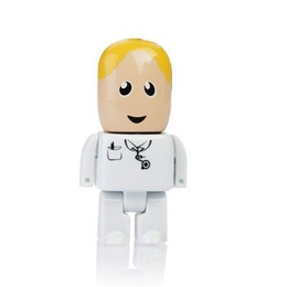 Оригинальная подарочная флешка Present MEN49 32GB White (флешка-доктор в белом халате, без блистера)