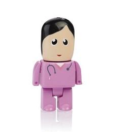 Оригинальная подарочная флешка Present MEN50 128GB Pink (медсестра в розовом халате)