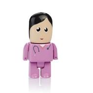 Оригинальная подарочная флешка Present MEN50 64GB Pink (медсестра в розовом халате, без блистера)