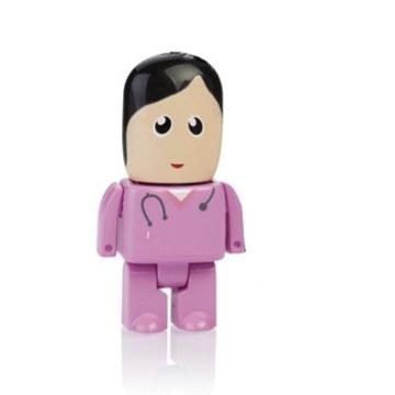 Оригинальная подарочная флешка Present MEN50 08GB Pink (медсестра в розовом халате, без блистера)