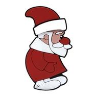 Оригинальная подарочная флешка Present NYR006 08GB (дед мороз красный нос)