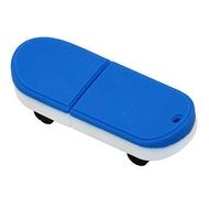 Оригинальная подарочная флешка Present ORIG03 128GB Blue White (флешка скейтборд)