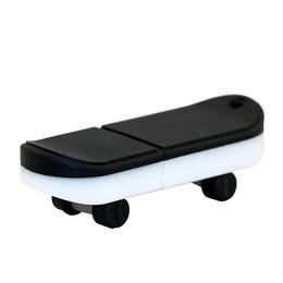 Оригинальная подарочная флешка Present ORIG03 64GB Black White (флешка скейтборд)