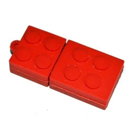 Оригинальная подарочная флешка Present ORIG08 02GB Red (флешка-конструктор LEGO)