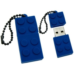 Оригинальная подарочная флешка Present ORIG08 64GB Blue (флешка-конструктор LEGO, без блистера)
