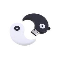 Оригинальная подарочная флешка Present ORIG10 64GB (флешка инь-янь, раздвижная, черно-белая)