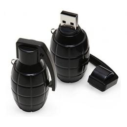 Оригинальная подарочная флешка Present ORIG113 128GB Black (граната лимонка)