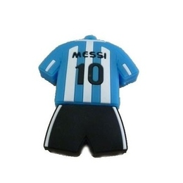 Оригинальная подарочная флешка Present ORIG125 128GB Blue White Black (футбольная форма Лионеля Месси)
