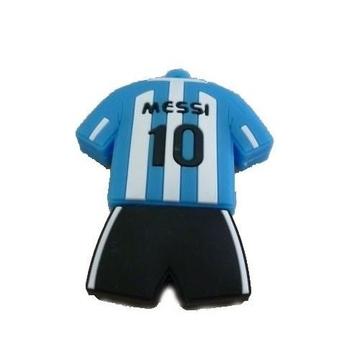 Оригинальная подарочная флешка Present ORIG125 64GB Blue White Black (футбольная форма Лионеля Месси, без блистера)