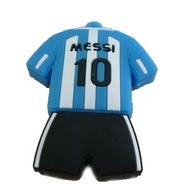 Оригинальная подарочная флешка Present ORIG125 08GB Blue White Black (футбольная форма Лионеля Месси, без блистера)