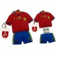 Оригинальная подарочная флешка Present ORIG126 04GB Red Blue (футбольная форма Давида Вилья, без блистера)