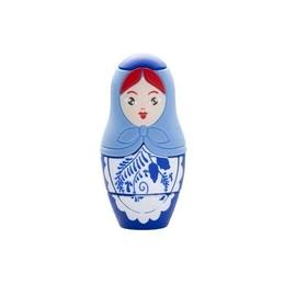Оригинальная подарочная флешка Present ORIG142 08GB Blue (матрешка, гжель)