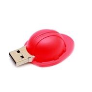 Оригинальная подарочная флешка Present ORIG144 128GB Red (строительная каска)