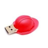 Оригинальная подарочная флешка Present ORIG144 04GB Red (строительная каска)