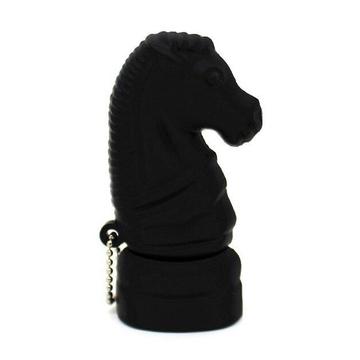 Оригинальная подарочная флешка Present ORIG180 04GB Black (шахматный конь)