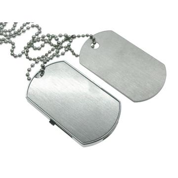 Оригинальная подарочная флешка Present ORIG25 16GB (флешка - солдатский медальон, металлическая пластина)