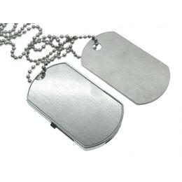 Оригинальная подарочная флешка Present ORIG25 32GB (флешка - солдатский медальон, металлическая пластина)