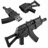 Оригинальная подарочная флешка Present ORIG56 4GB Black (автомат AK-47)