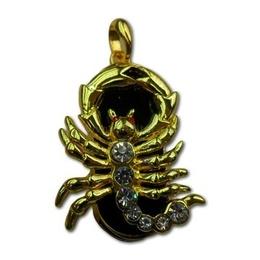 Оригинальная подарочная флешка Present ZODIAC01 128GB (знак зодиака скорпион, на темном фоне, 7 камней, 10 лап)