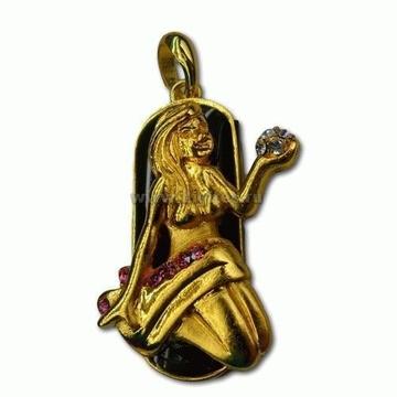 Оригинальная подарочная флешка Present ZODIAC03 16GB (знак зодиака дева на темном фоне, а в руках каменья драгоценные)