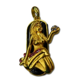 Оригинальная подарочная флешка Present ZODIAC03 08GB (знак зодиака дева на темном фоне, а в руках каменья драгоценные)