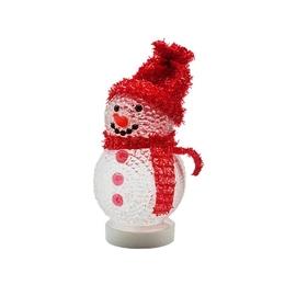 USB-сувенир Снеговик Red с изменяющейся подсветкой