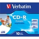 CD-R Verbatim Jewel Case 10шт (700MB, 52x, Printable, Datalife+, 43325)