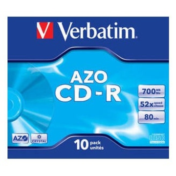 CD-R Verbatim Crystal Jewel Case 10шт (700MB, 52x, Datalife+, 43327)