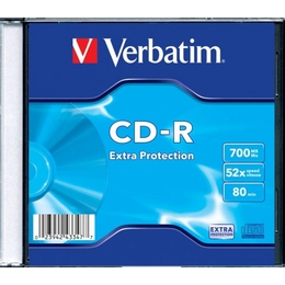 CD-R Verbatim Slim Case 1шт (700MB, 52x, 43347)