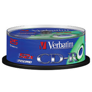 CD-R Verbatim Cake Box 25шт (700MB, 52x, Datalife, 43352)