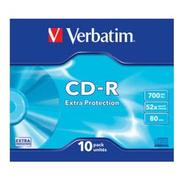 CD-R Verbatim Slim Case 10шт (700MB, 52x, Datalife, 43415)