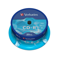CD-R Verbatim Cake Box 25шт (700MB, 52x, Datalife, 43432)