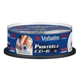 CD-R Verbatim Cake Box 25шт (700MB, 52x, Printable, Datalife+, 43439)