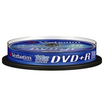 DVD+R (болванка) Verbatim Cake Box 10шт (4.7GB, 16x, 43498)