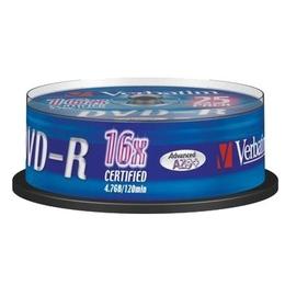 Диск DVD-R Verbatim Cake Box 25шт (4.7GB, 16x, 43522)
