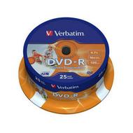 Диск DVD-R Verbatim Cake Box 25шт (4.7GB, 16x, Printable, 43538)