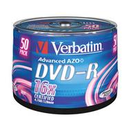 Диск DVD-R Verbatim Cake Box 50шт (4.7GB, 16x, 43548)