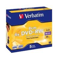 miniDVD+RW Verbatim Slim Case 5шт (1.4GB, 4x, 43565)