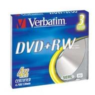 DVD+RW Verbatim Slim Case 3шт (4.7GB, 4x, 43636)