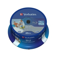 Blu-Ray BD-R Verbatim Cake Box 25шт (25GB, 6x, Printable, LTH, 43771)