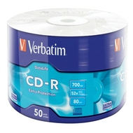 CD-R Verbatim Shrink 50шт (700Mb, 52x, Datalife, Extra Protection, 43787)