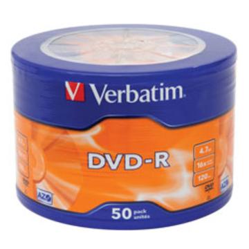 Диск DVD-R Verbatim Shrink 50шт (4.7GB, 16x, Data Life, 43791)