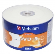 Диск DVD-R Verbatim Shrink 50шт (4.7GB, 16x, DataLife, Printable, 43793)